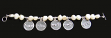 River White Perl Bracelet with 5 Name of God
