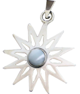 Twelve Pointed Star with Moon Stone