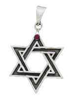 6 pointed Star or David´s Star with crystal