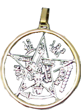 Pentagram or Star of the Magicians with 7 metals